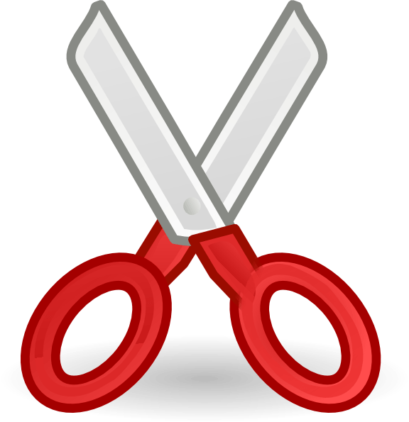 scissors clip art vector