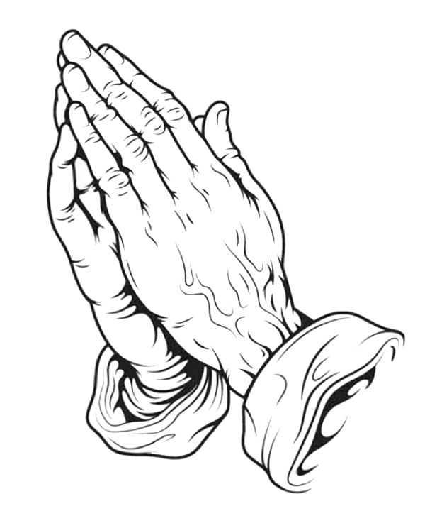 printable praying hands clipart