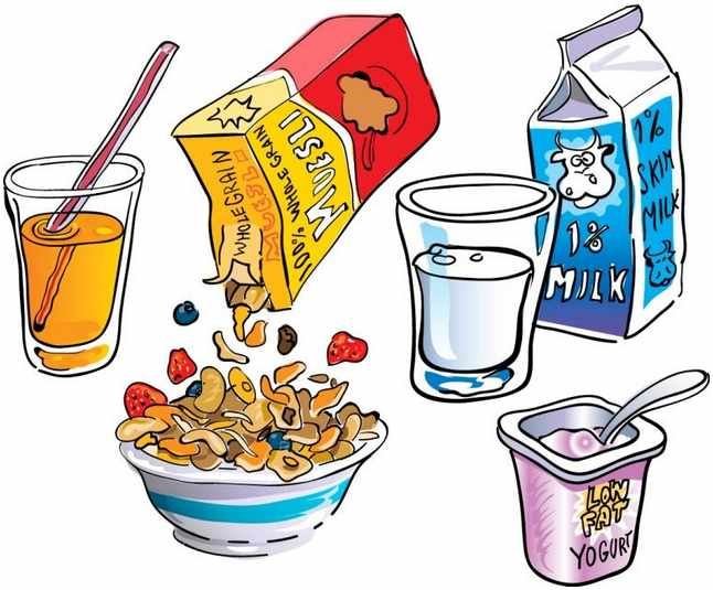 breakfast clip art borders