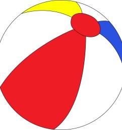 beach ball clip art image 18123 [ 1983 x 1979 Pixel ]
