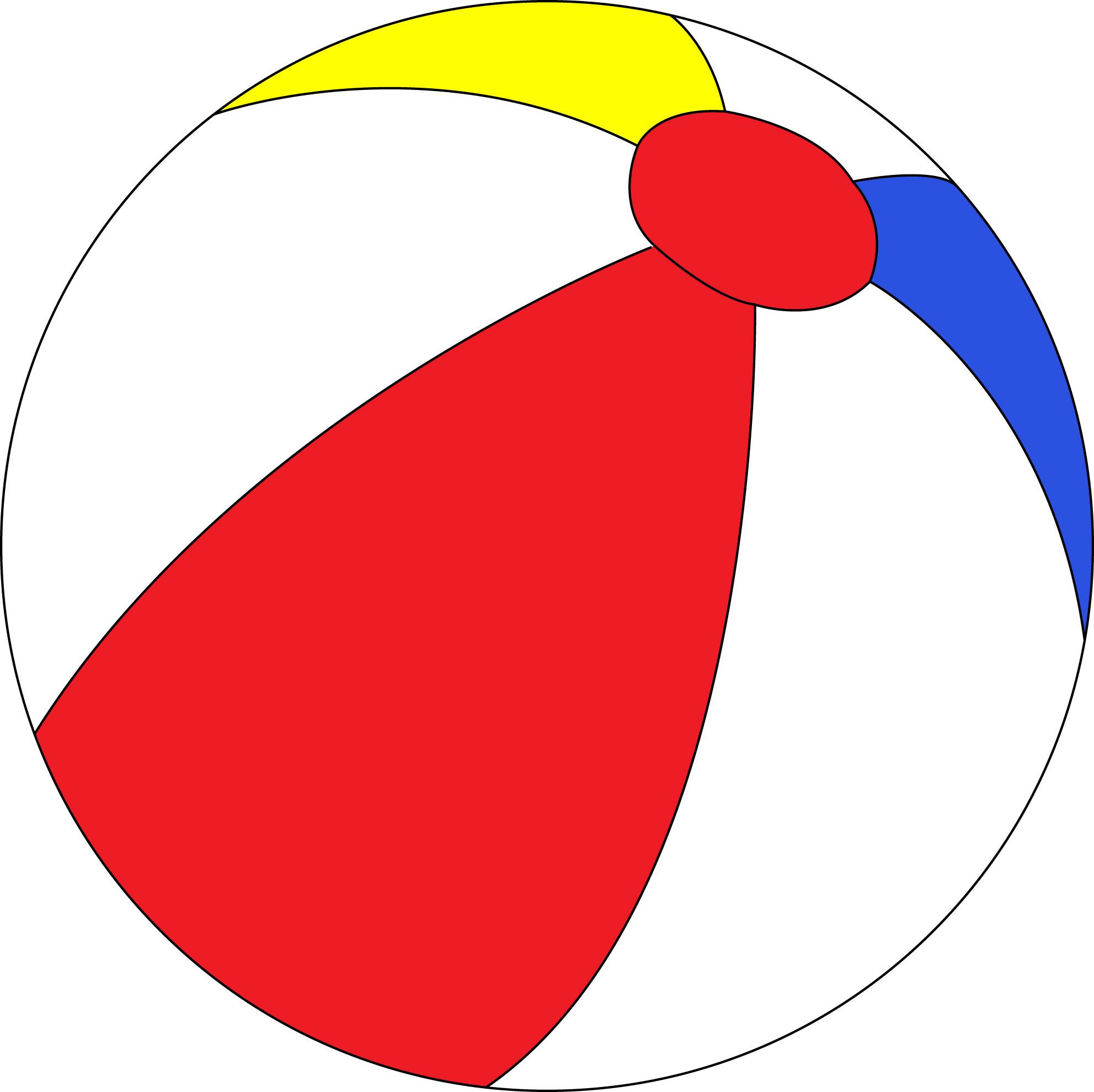 hight resolution of beach ball clip art image 18123