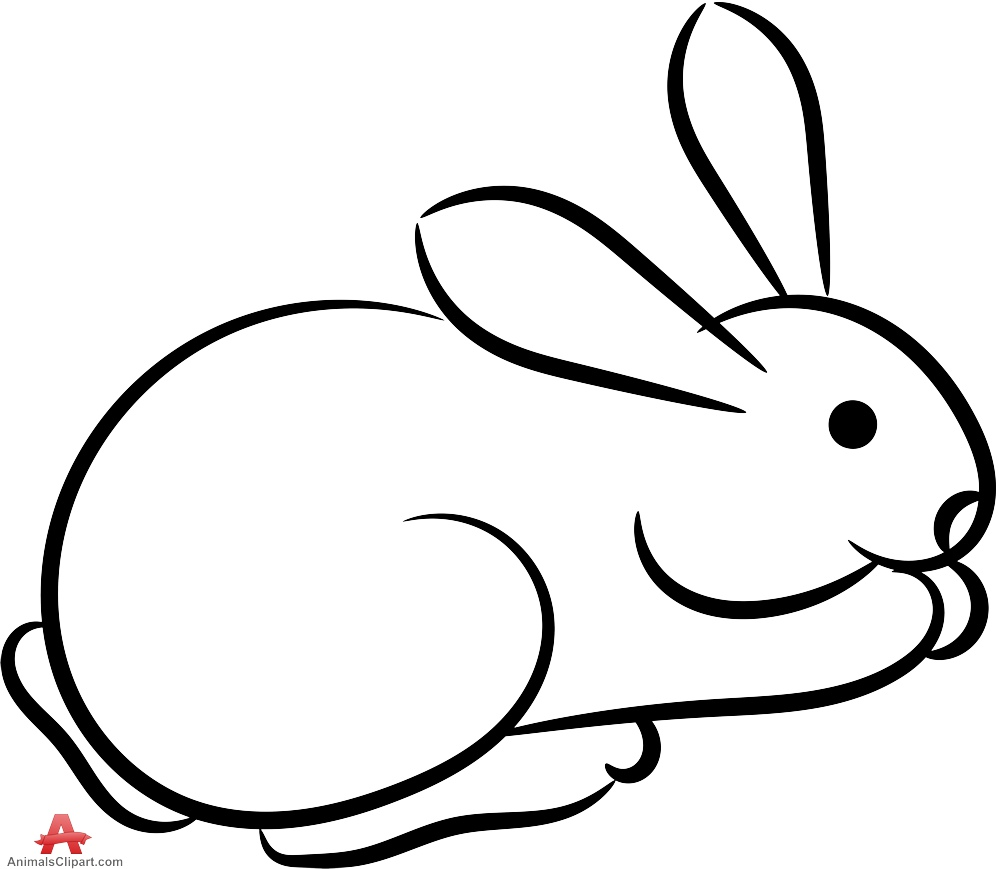 20 Rabbit Outline Clipart Ideas And Designs