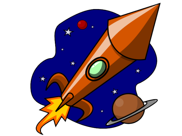 free cartoon rocket ship clip art