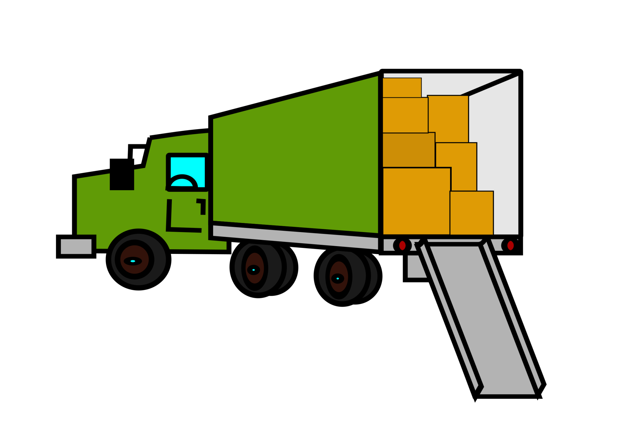 hight resolution of moving truck clipart the cliparts