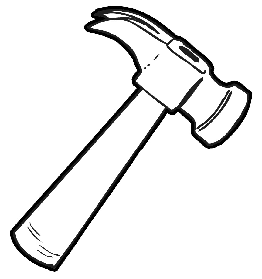 hight resolution of nail and hammer clipart kid