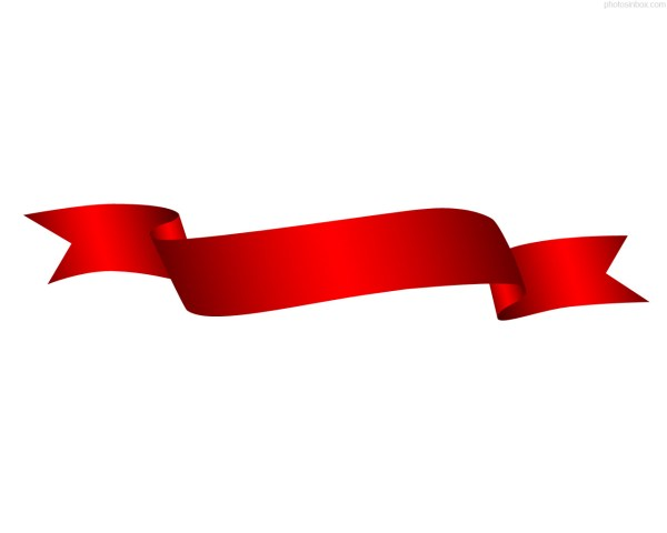 red ribbon clipart 3