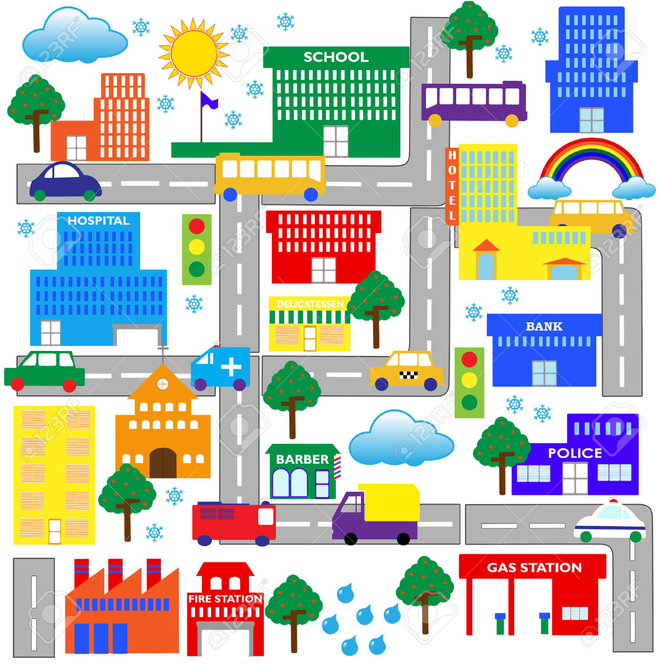 City Scene Clip Art Cliparts