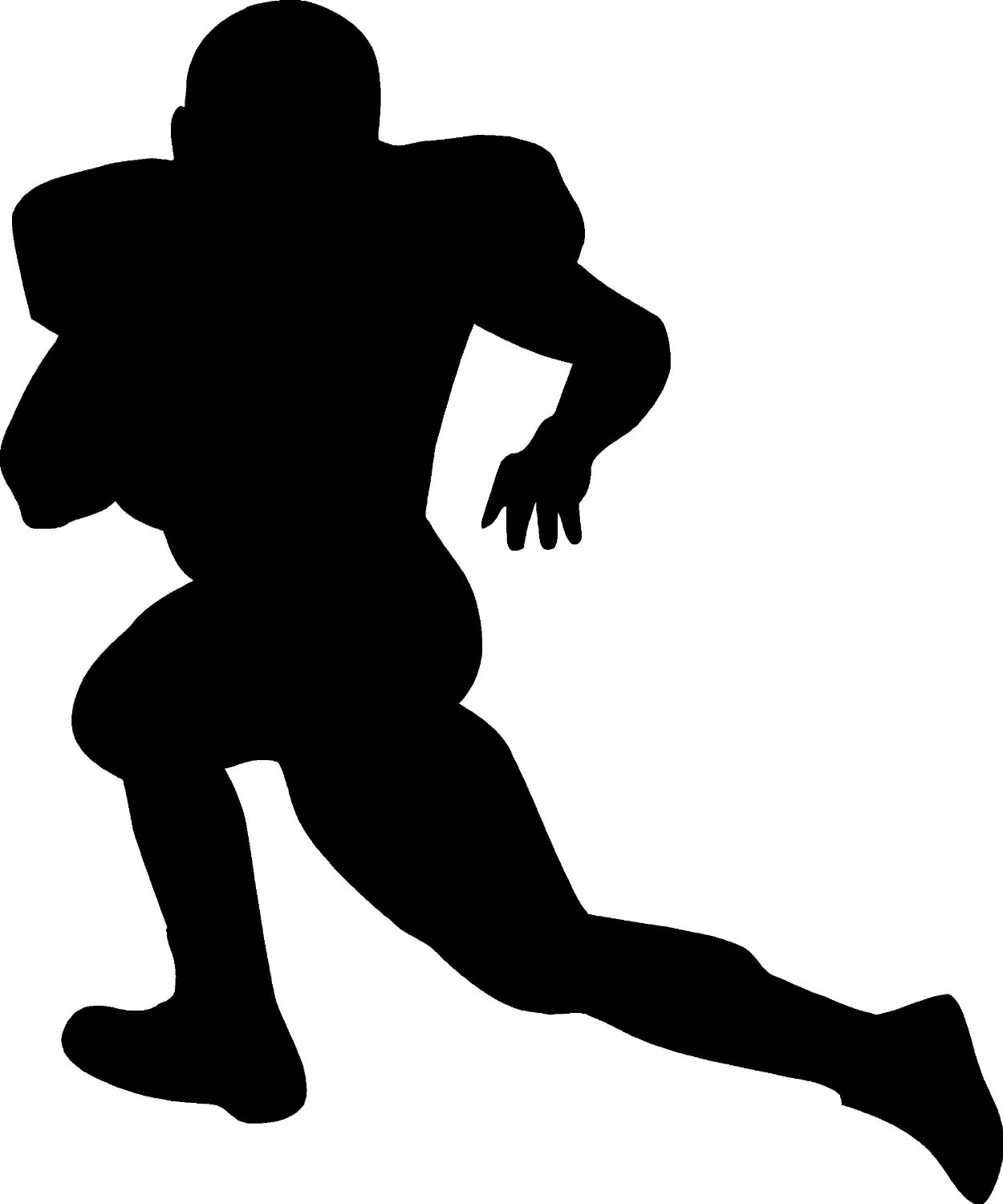 hight resolution of female american football player clipart kid