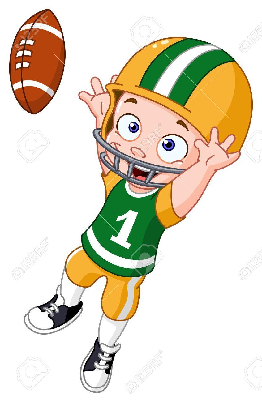 hight resolution of football player clip art football image clipartix