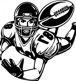 football player clipart 2 [ 1024 x 898 Pixel ]