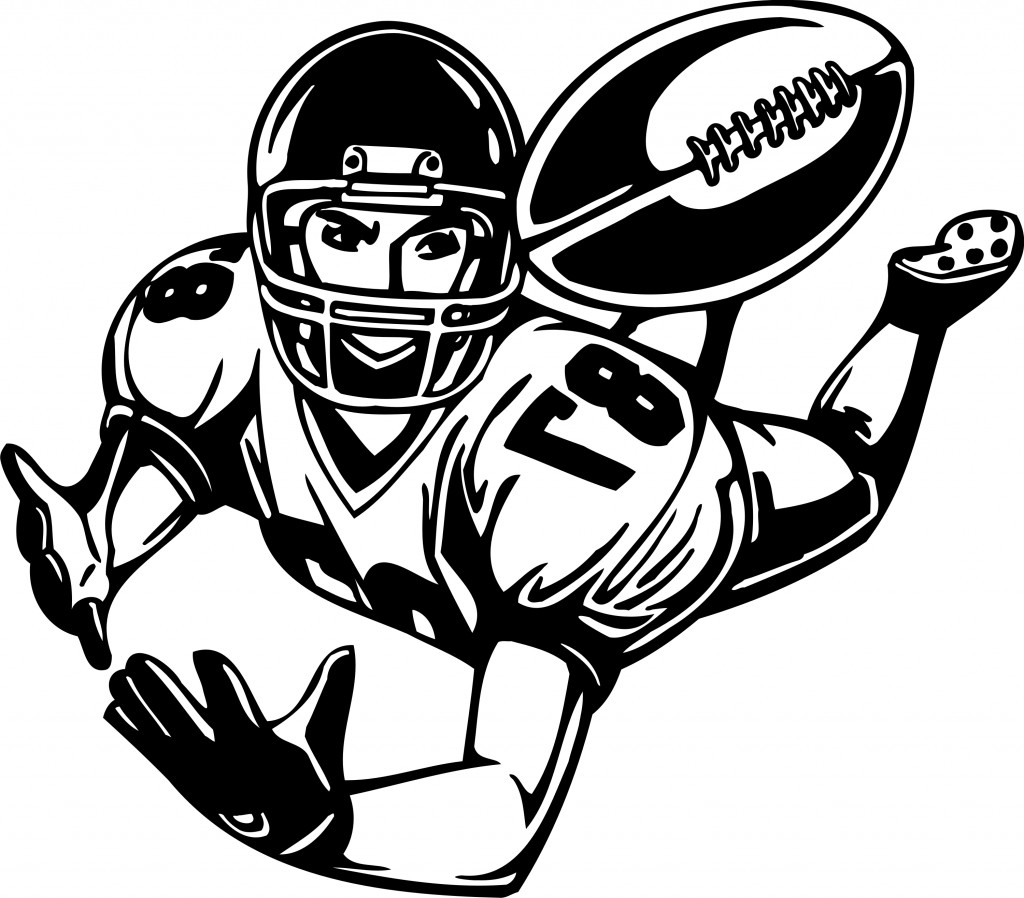 hight resolution of football player clipart 2