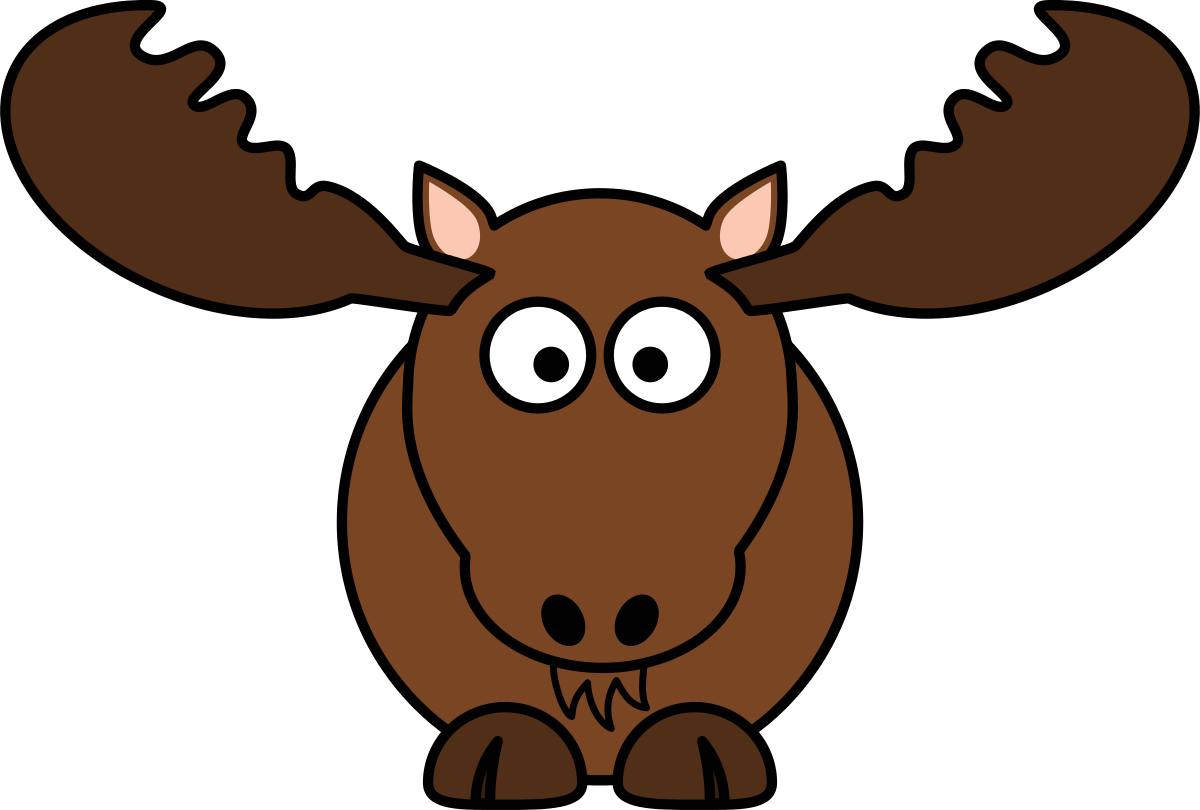 hight resolution of moose clip art silhouette free clipart images clipartix