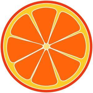 orange clipart 2