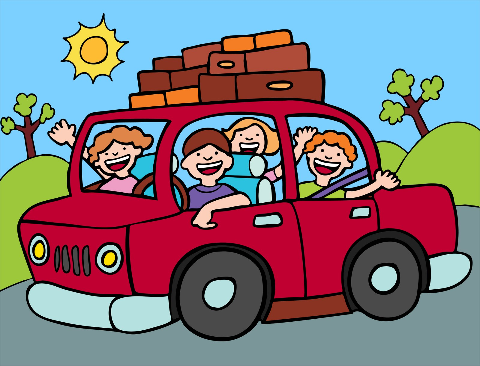 hight resolution of family car travel clipart kid