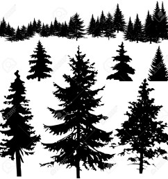 pine tree silhouette clipart 2 [ 1300 x 1300 Pixel ]