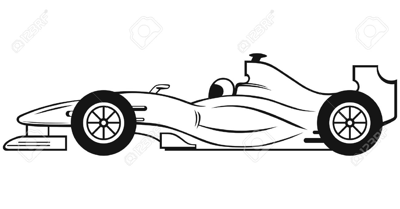 hight resolution of black race car clipart clipartfest 4