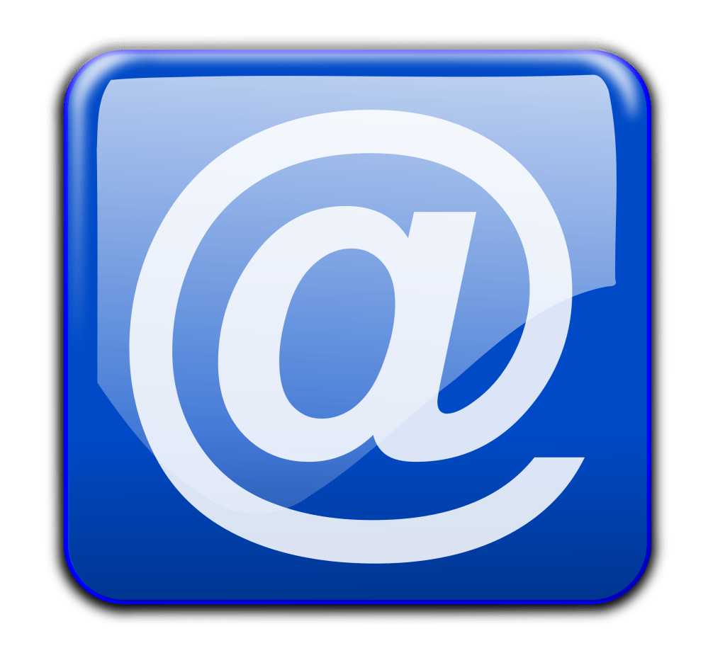 medium resolution of email clipart blue