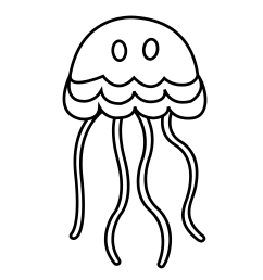 jellyfish black and white clipart kid [ 1979 x 1979 Pixel ]