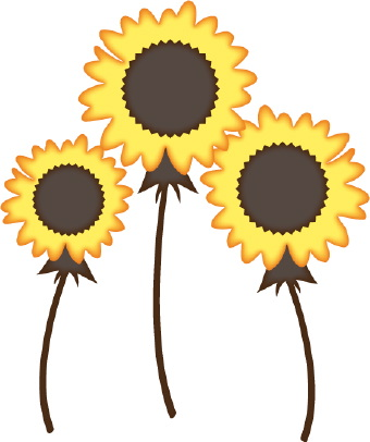 sunflowers clipart black and white