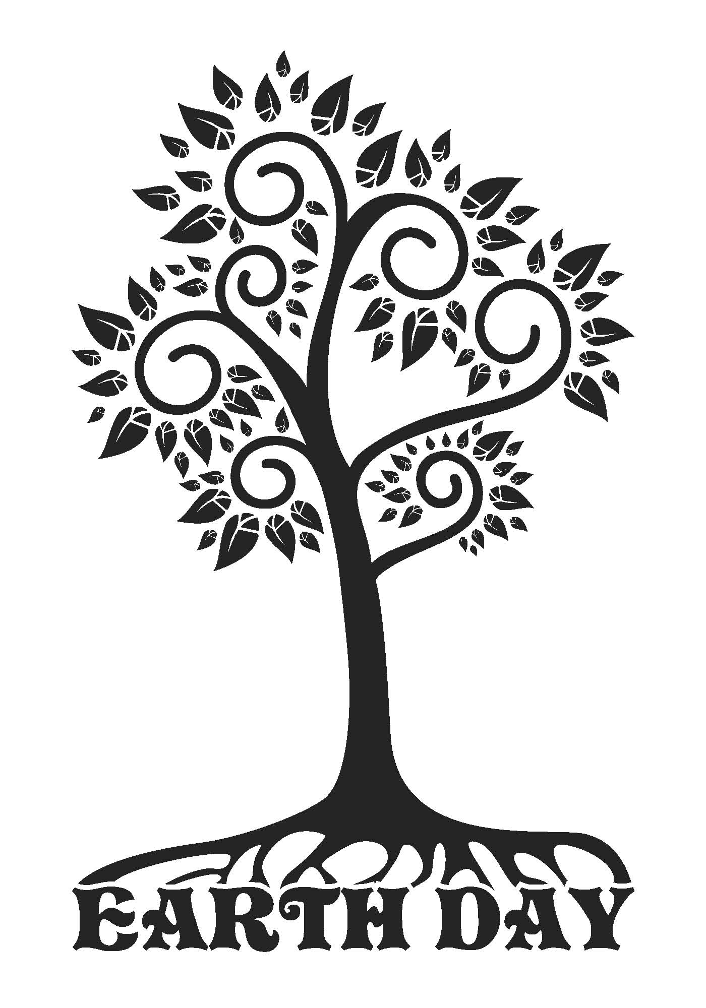 Earth Day Clip Art Black And White Clipartfest 4