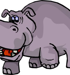 hippo clip art black and white free clipart images [ 1347 x 896 Pixel ]