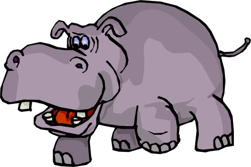 small resolution of hippo clip art black and white free clipart images