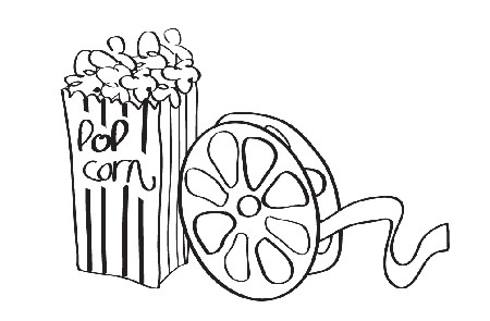 Movie reel clipart black and white clipartfest