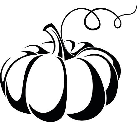 free pumpkin clipart black