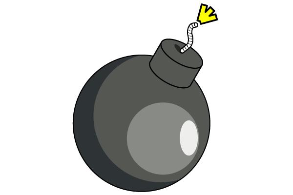 bomb clipart freevectors