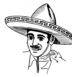 mexican in sombrero clipart free stock photo public domain pictures [ 1920 x 1621 Pixel ]