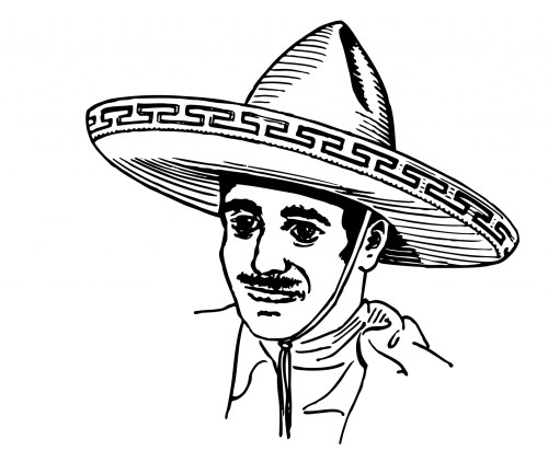 small resolution of mexican in sombrero clipart free stock photo public domain pictures