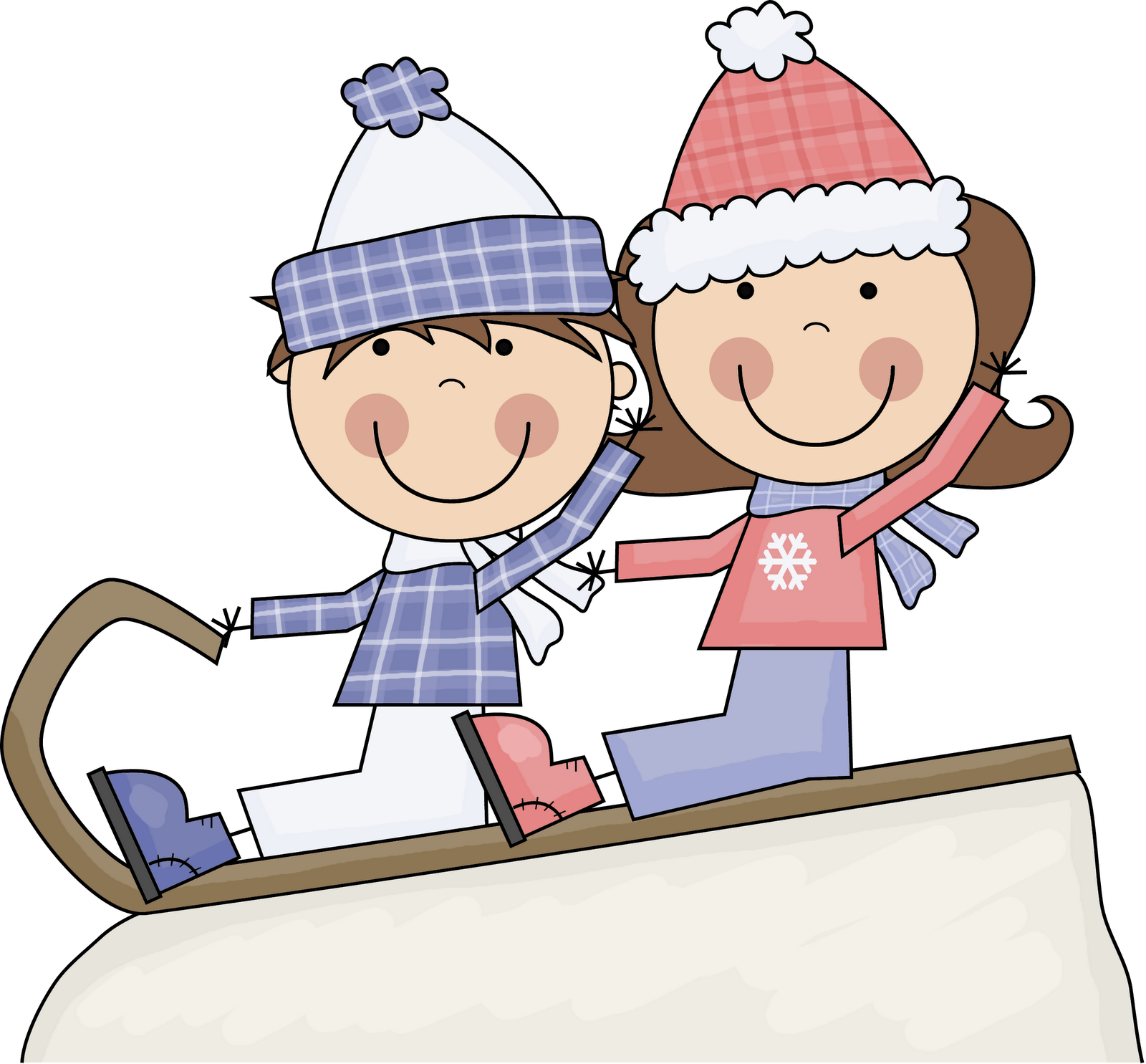 hight resolution of kids playing in snow clipart clip art