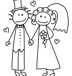 bride and groom clipart image 42966 [ 1050 x 1275 Pixel ]