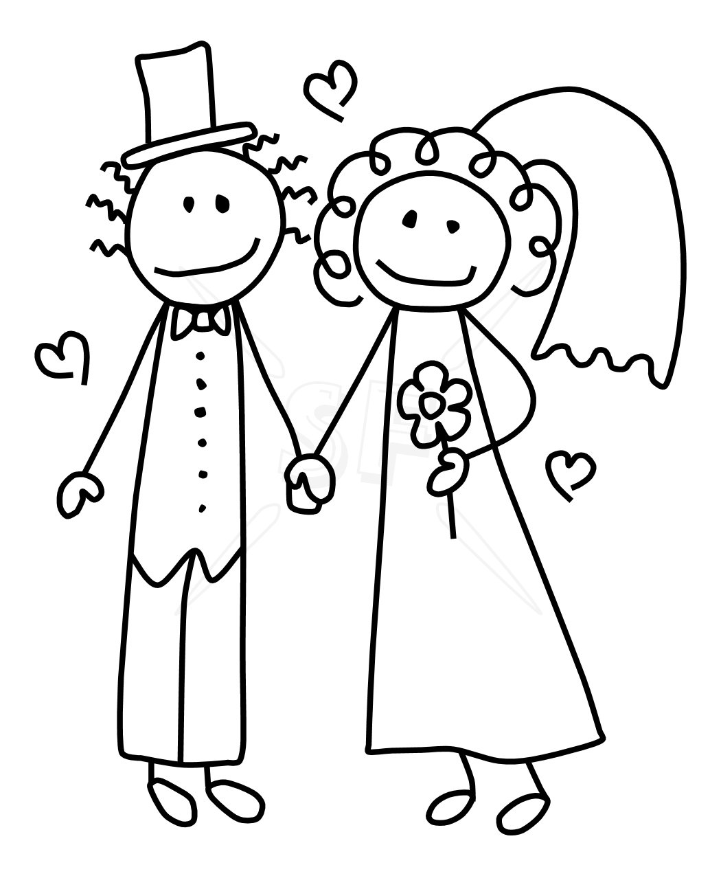 hight resolution of bride and groom clipart image 42966