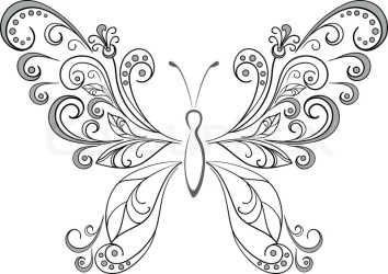 Butterfly black silhouettes stock vector lour jpg Cliparting com