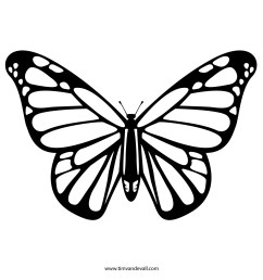 butterfly black and white monarch butterfly clipart jpeg [ 1500 x 1500 Pixel ]