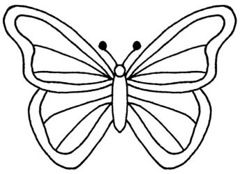 Best Butterfly Outline #1173 Clipartion com