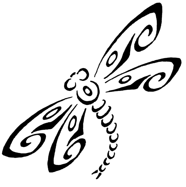 dragonfly outline #5044