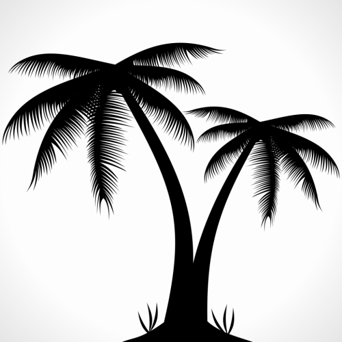 small resolution of palm tree silhouette clipart free clip art images
