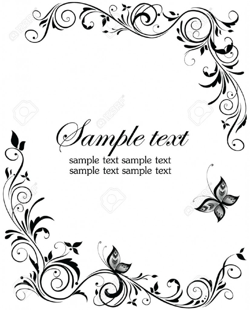 muslim wedding card clipart black and white