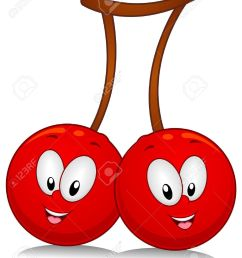 a pair of cherry characters poised sideside stock photo [ 1043 x 1300 Pixel ]