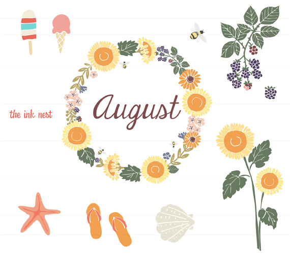 august clipart #14561