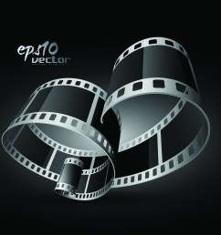 black and white film clip art 3d 1 free vector 4vector [ 3465 x 3465 Pixel ]