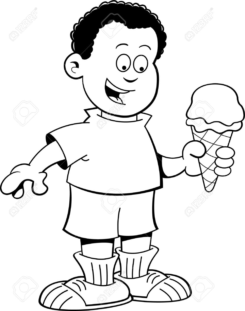 Best Ice Cream Clipart Black And White