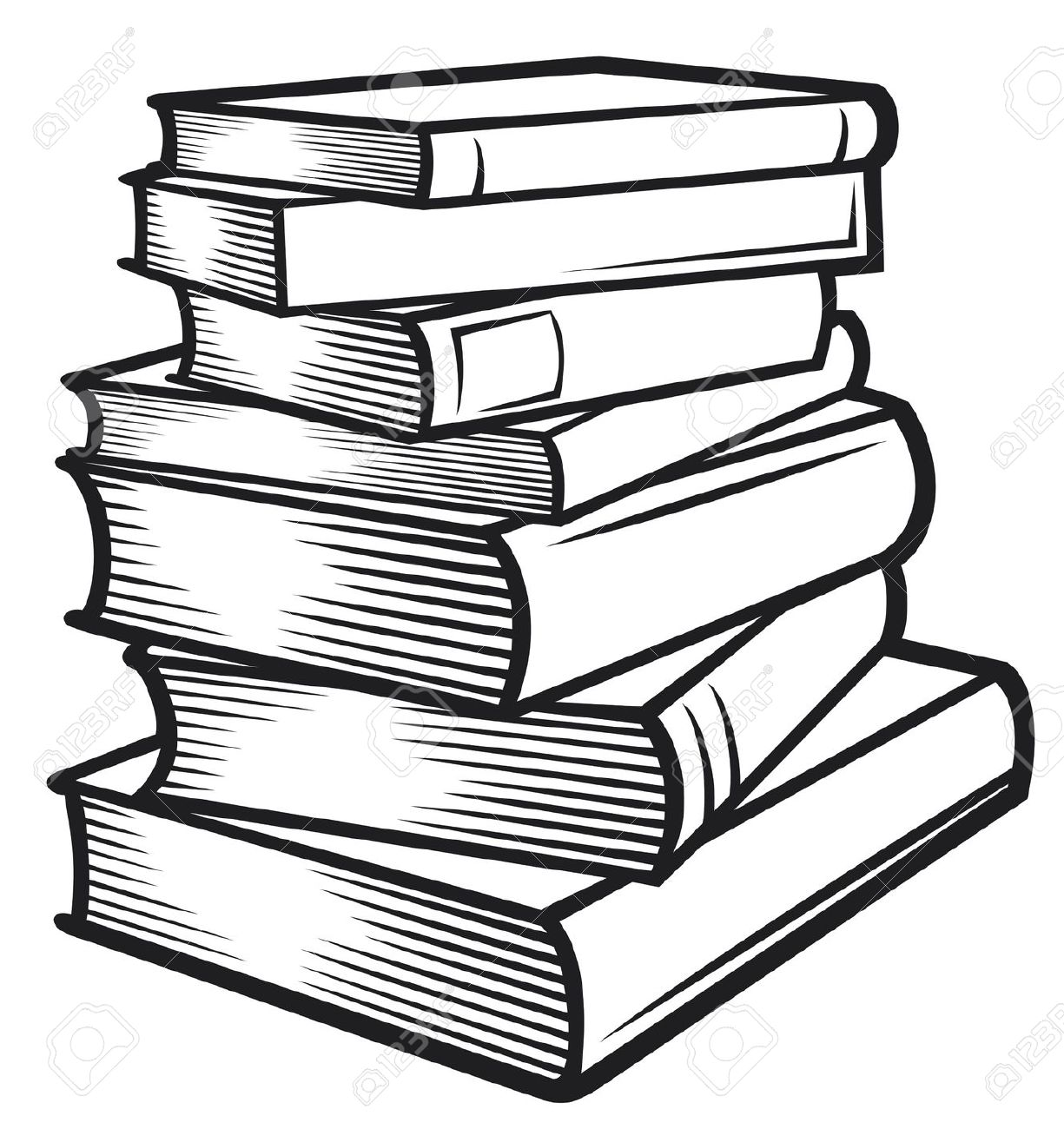 Best Black And White Book Clipart