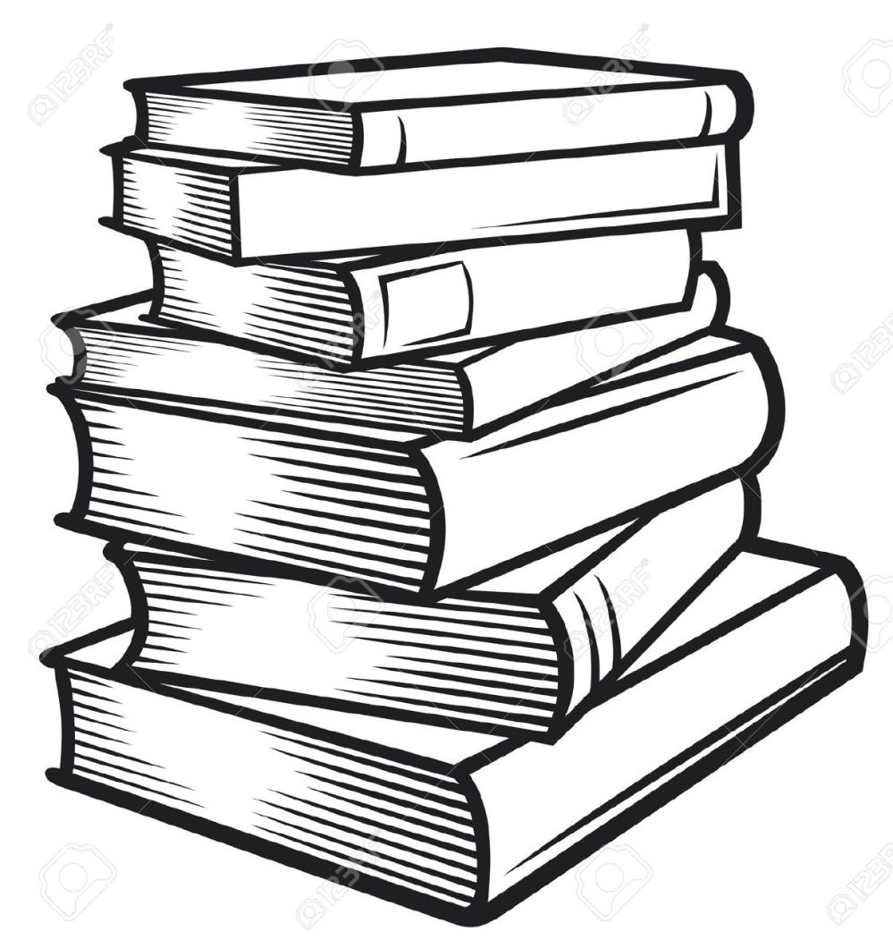 medium resolution of black and white book clipart 18181