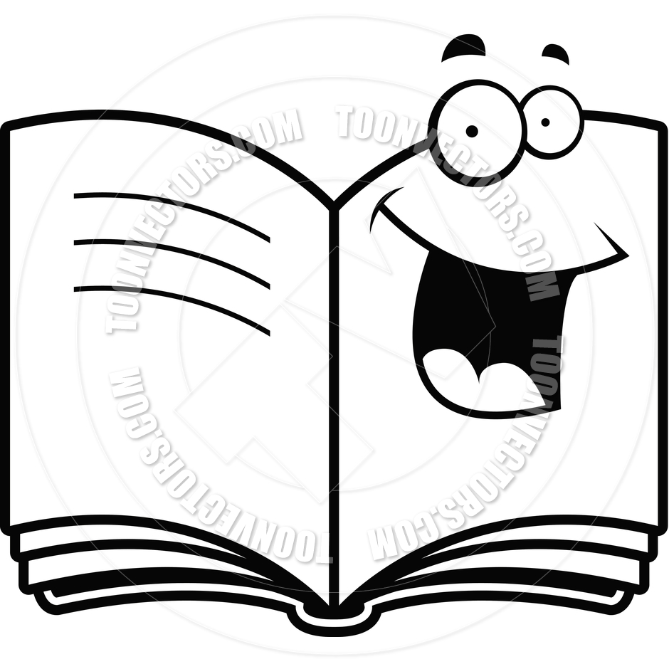 hight resolution of black and white book clipart 18196