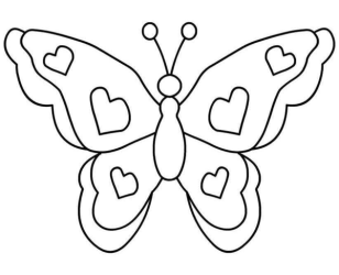 butterfly clipart clip butterflies clipartion outline simple