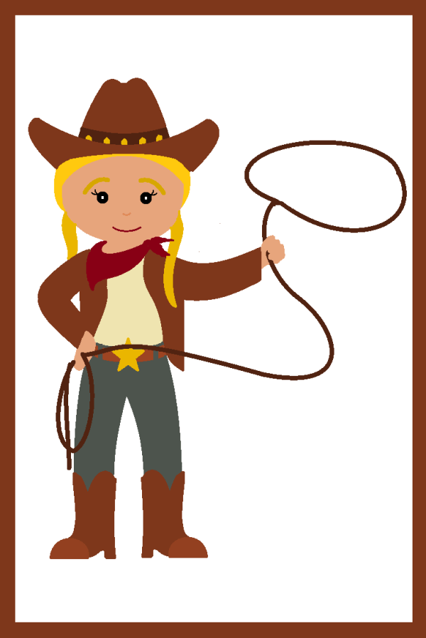 cowgirl clipart #9116