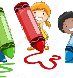 kids writing clipart 20792 children using crayons stock photo picture and royalty free image [ 1300 x 840 Pixel ]